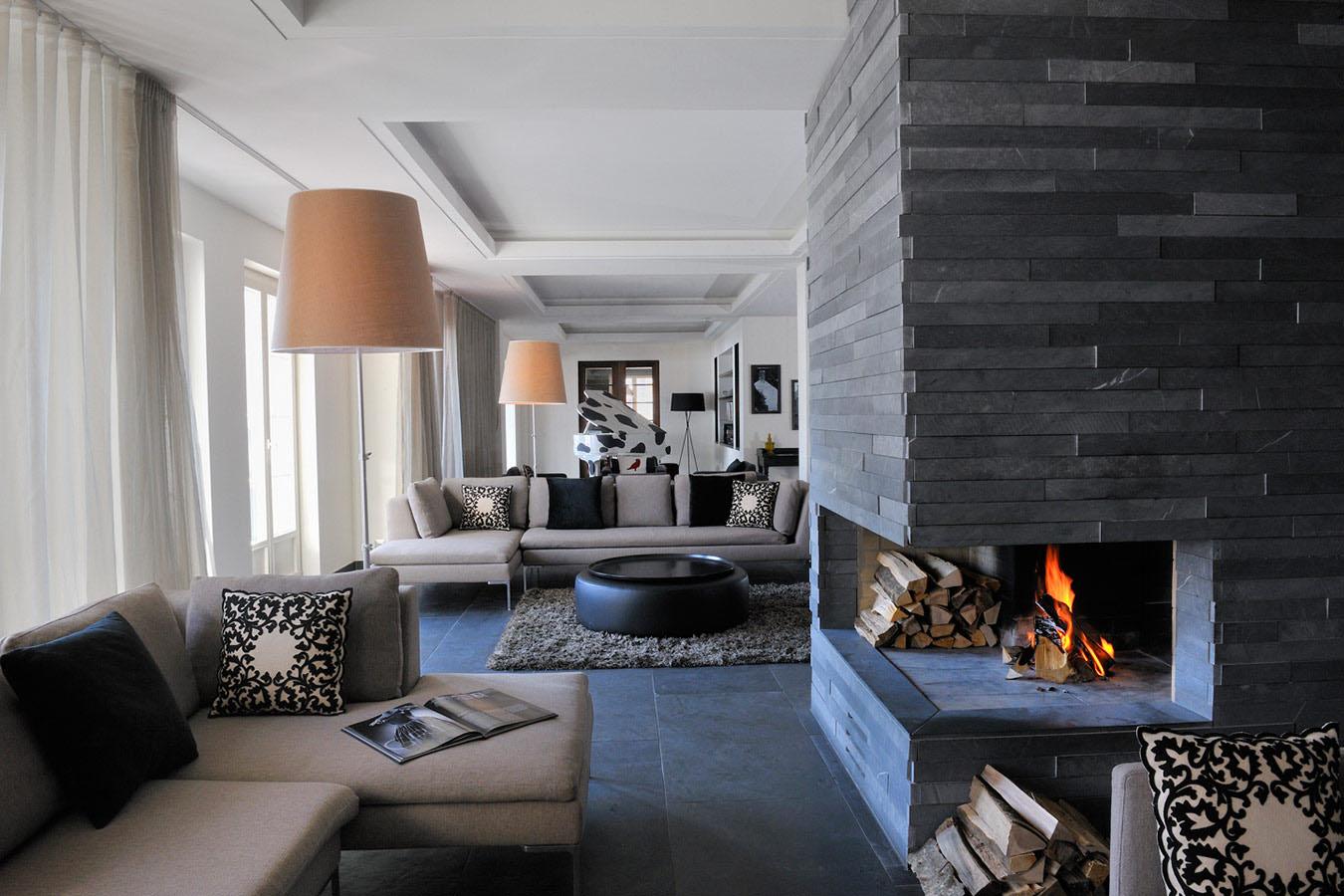 Elegant Swiss Alps Hotel Room