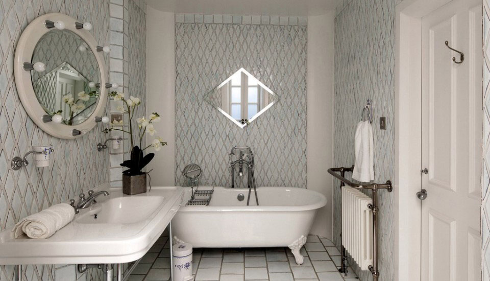 Charming Bathroom with Claw Footed Tub