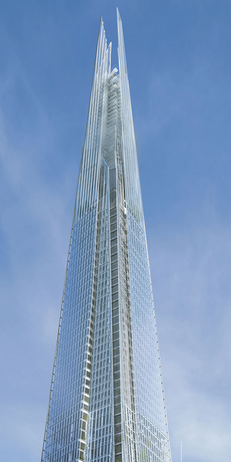 The shard a vertical city in london idesignarch for Architecture londres
