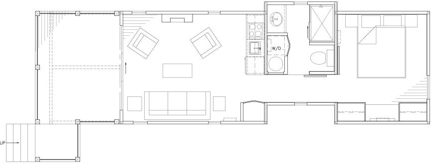 The Wedge Tiny House Floorplan