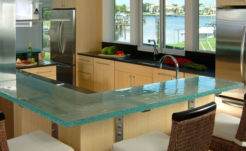 Glass kitchen countertops by thinkglass idesignarch interior design architecture interior - Kitchen counter decoration ...