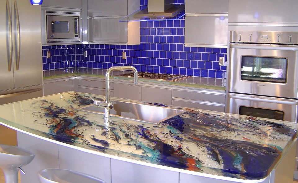 Glass kitchen countertops by thinkglass idesignarch for Ultraglas kitchen countertops