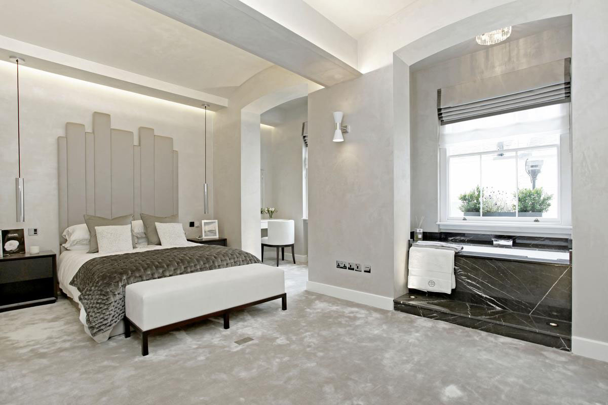 Luxury Modern London Home Bedroom