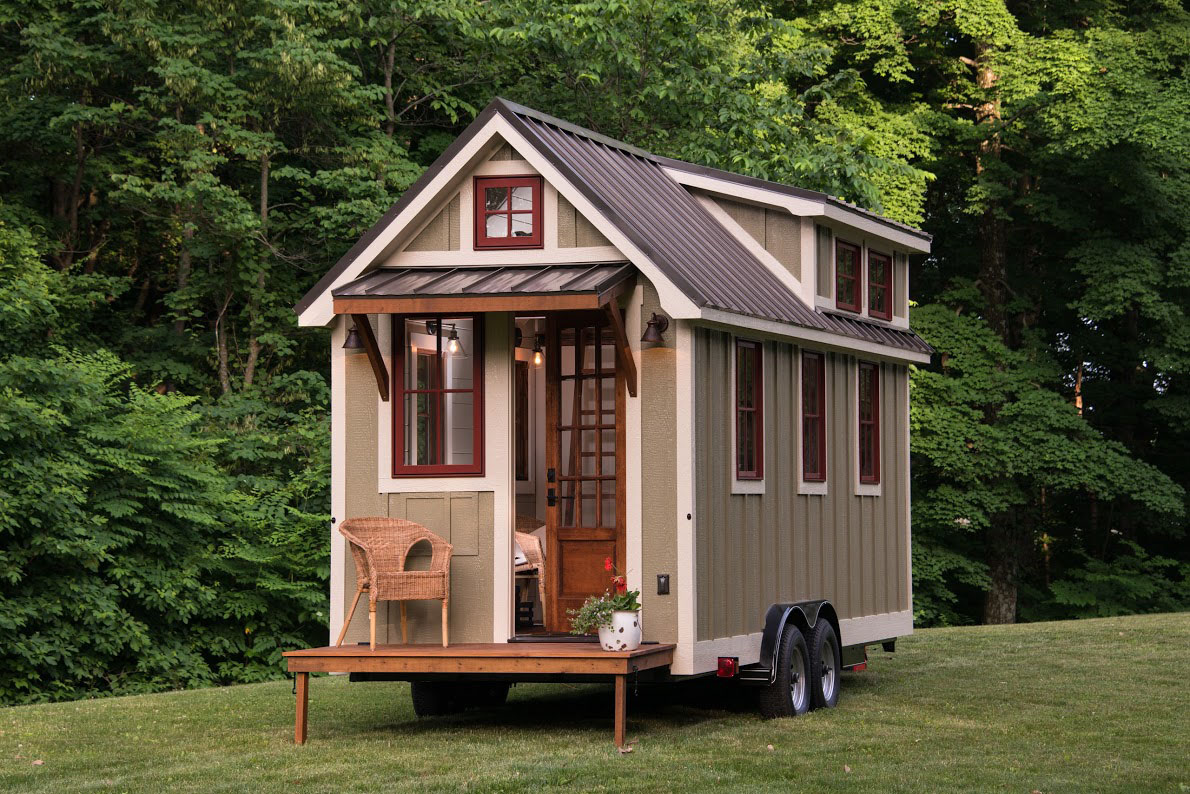 Timbercraft tiny house living large in 150 square feet for Tiny house with porch