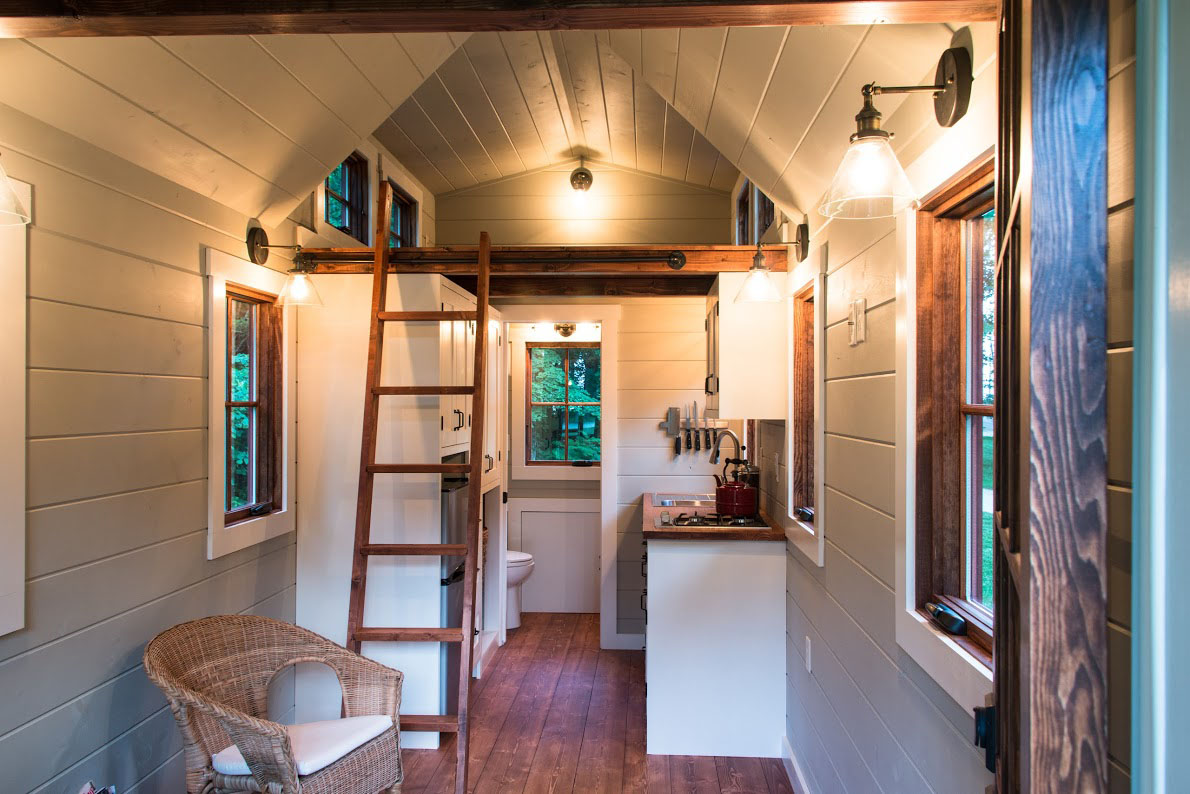 Timbercraft tiny house living large in 150 square feet for Tiny house interior ideas