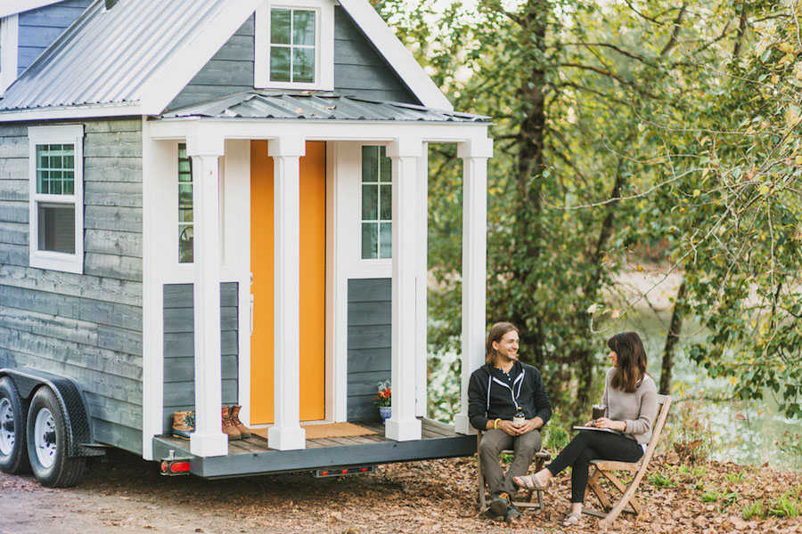 Beautiful Tiny House with Exterior Columns