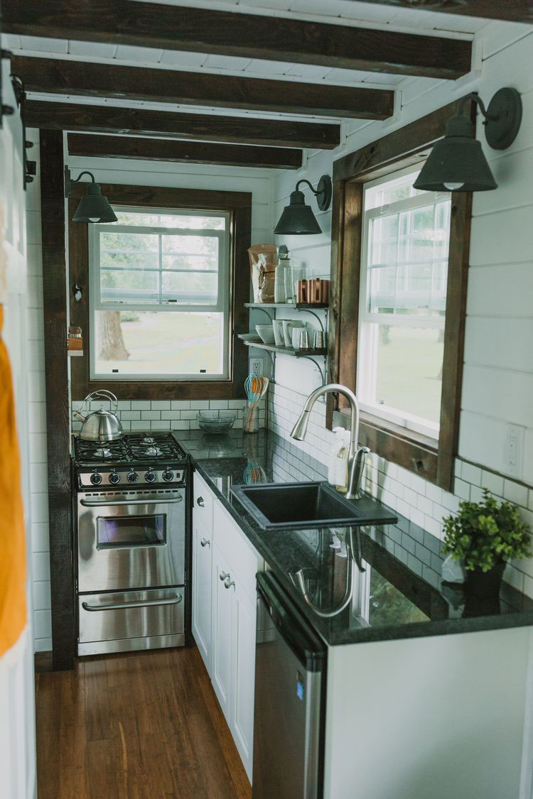 Custom luxury tiny house on wheels by tiny heirloom idesignarch interior design Kitchen design for tiny house