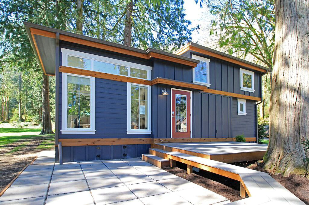 Tiny house lakeside cottage lake whatcom washington 2 for Washington state approved house plans