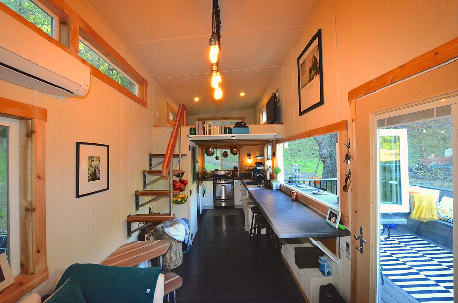 Tiny house on wheels with indoor outdoor entertaining spaces idesignarch interior design - House interior design for small houses ...