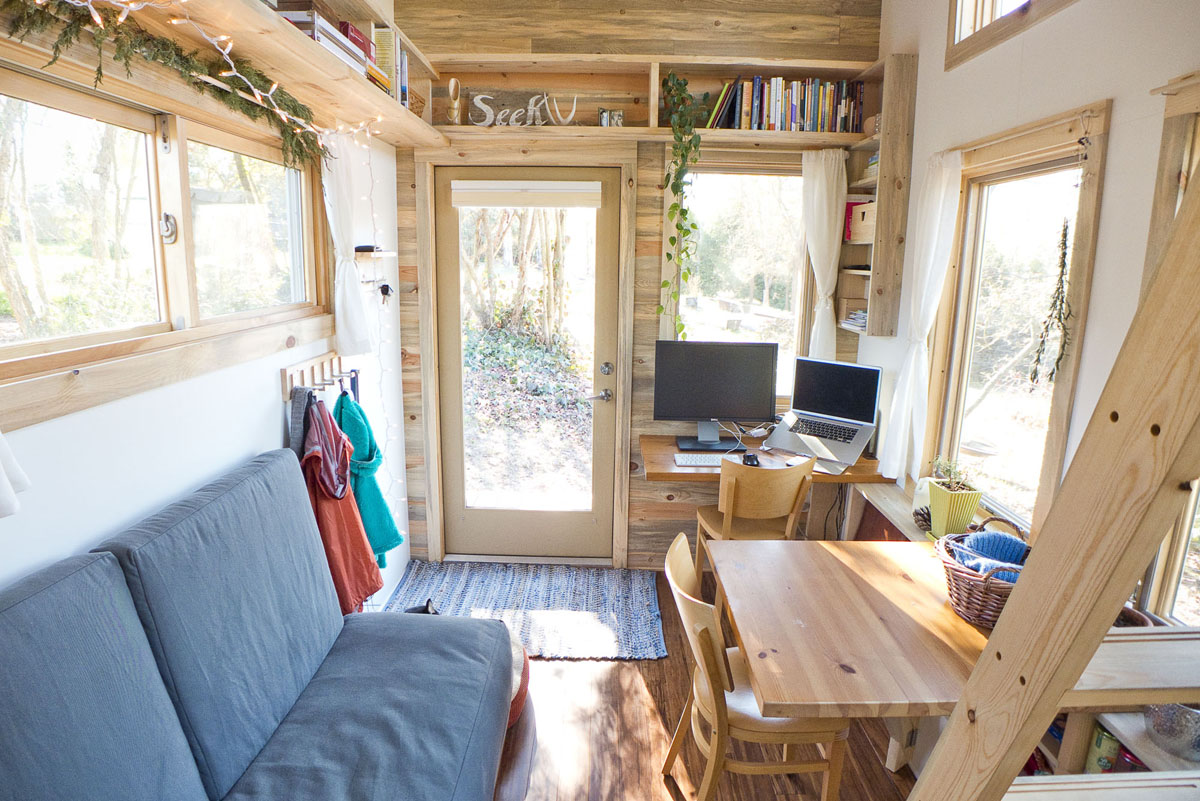 Solar tiny house project on wheels idesignarch for Small house interior