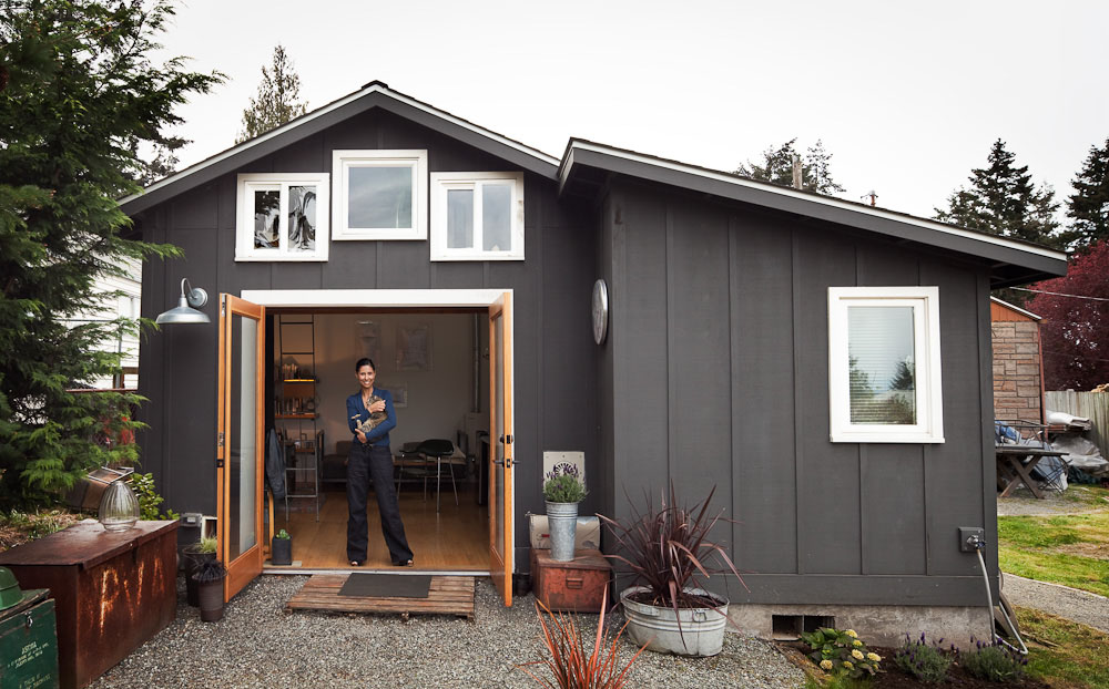 Pleasant Small Garage Converted To Tiny Mini House Idesignarch Interior Largest Home Design Picture Inspirations Pitcheantrous