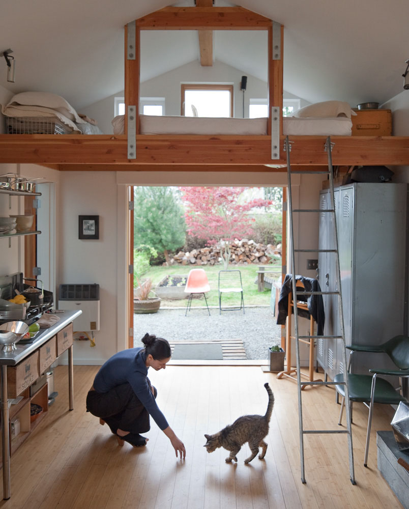 Awe Inspiring Small Garage Converted To Tiny Mini House Idesignarch Interior Largest Home Design Picture Inspirations Pitcheantrous