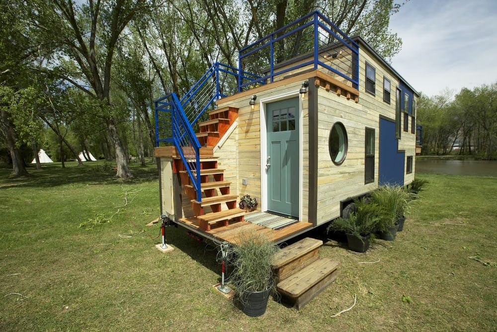Terrific Custom Mobile Tiny House With Large Kitchen And Two Lofts Largest Home Design Picture Inspirations Pitcheantrous