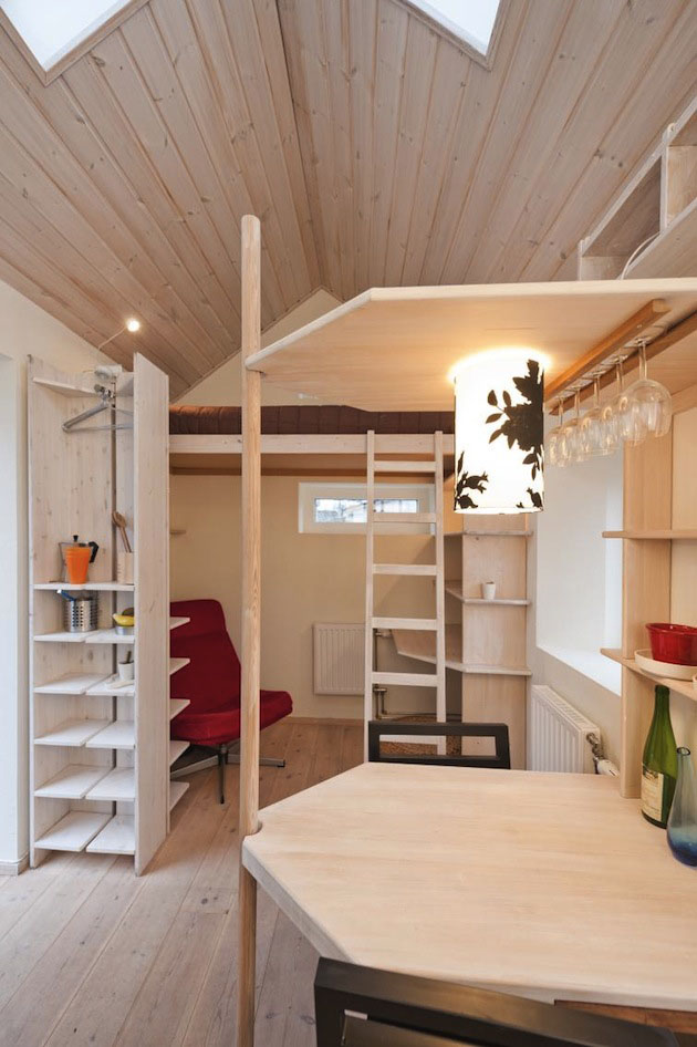 Tiny Studio Flat For Students | iDesignArch | Interior Design ...