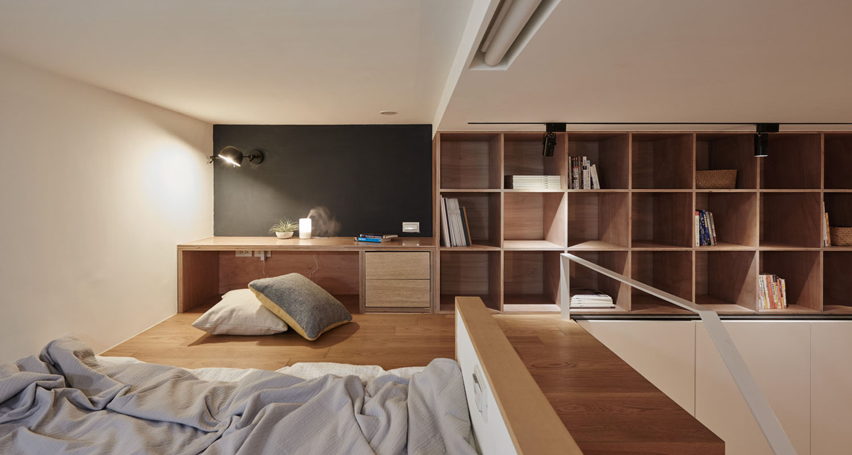 Tiny Studio Apartment In Taipei City With Sleeping Loft ...