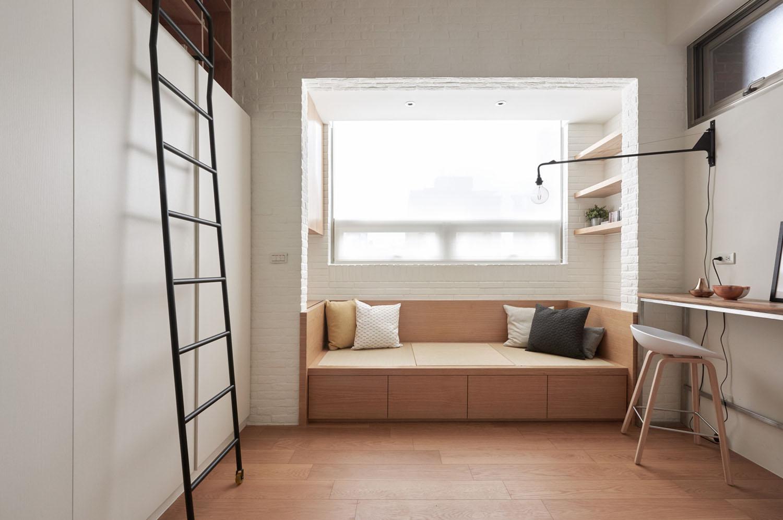 Tiny studio loft flat taipei taiwan 5 for Flat appartement design