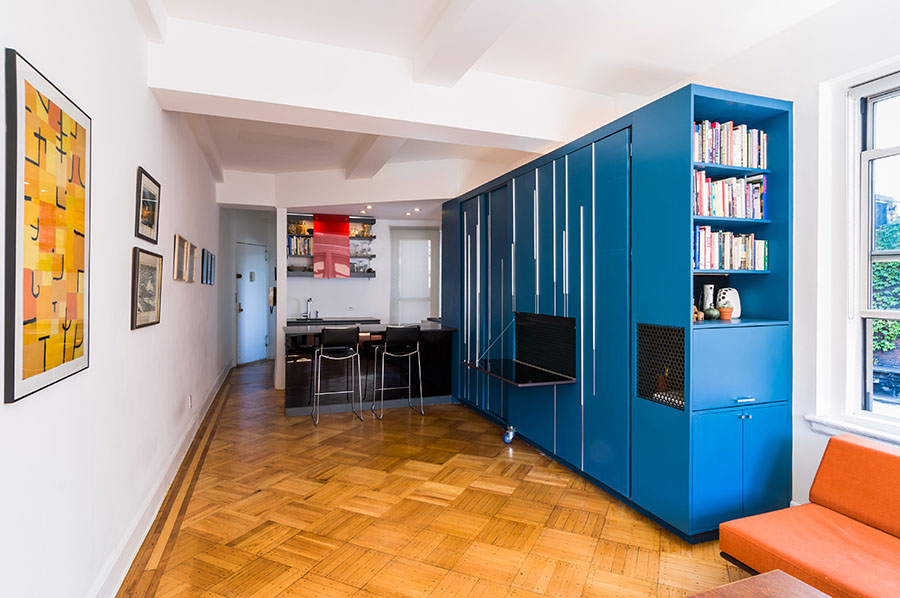 tiny unfolding studio apartment in manhattan idesignarch