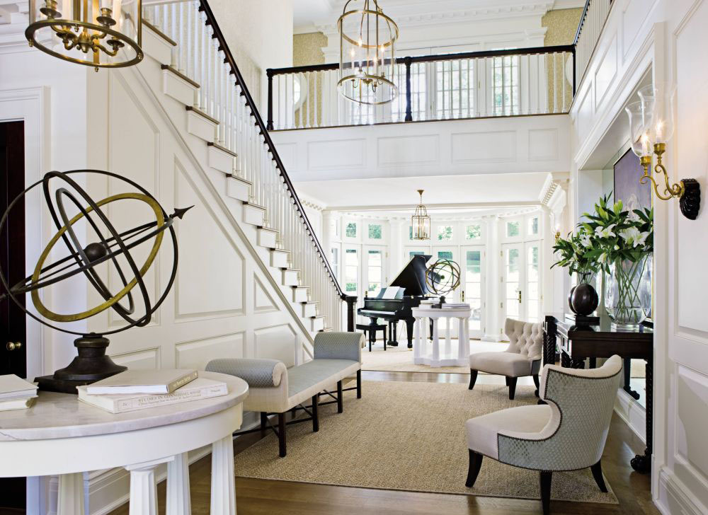 Elegant Entrance Hall of a Luxury Home