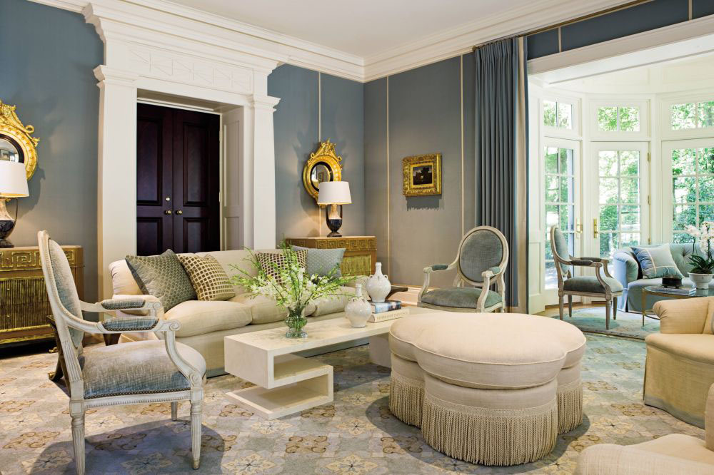 elegant traditional home interior design of a colonial revival