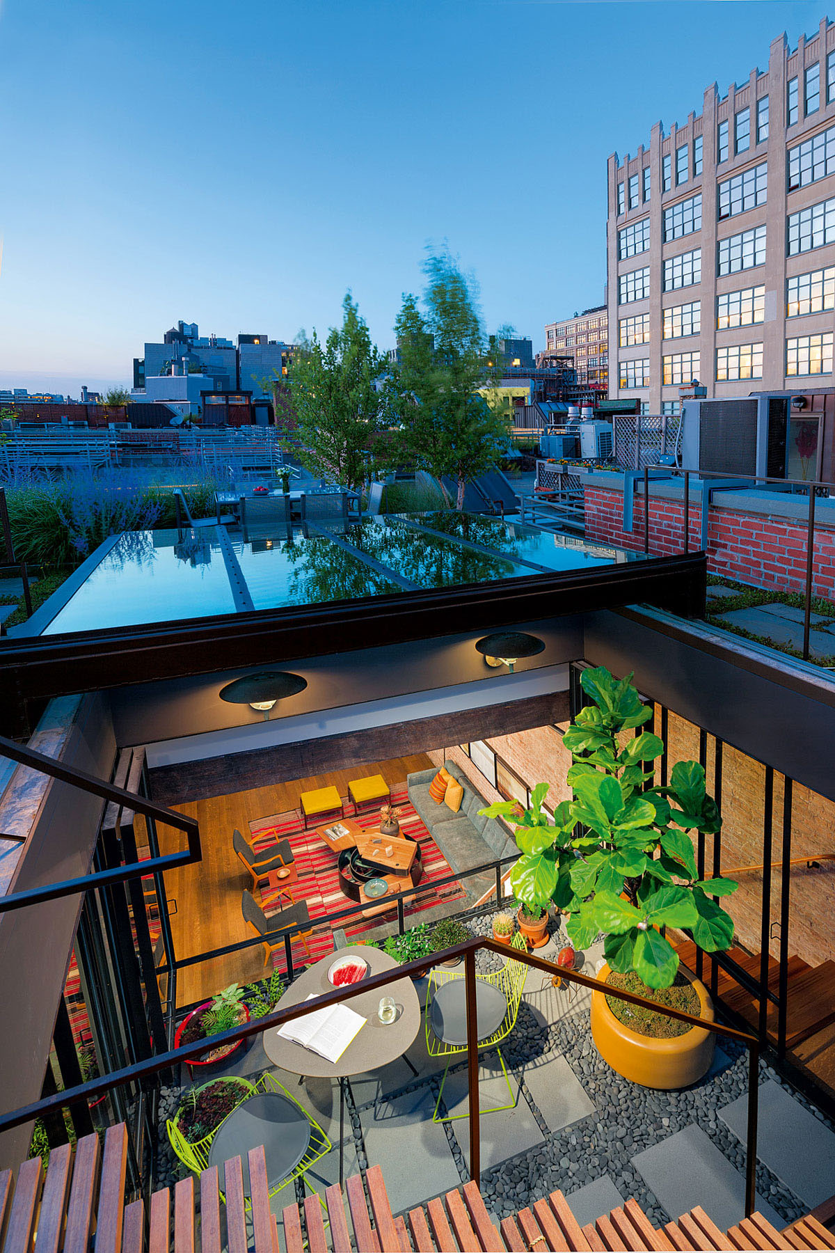 Chic New York City Loft with Roof Garden Terrace