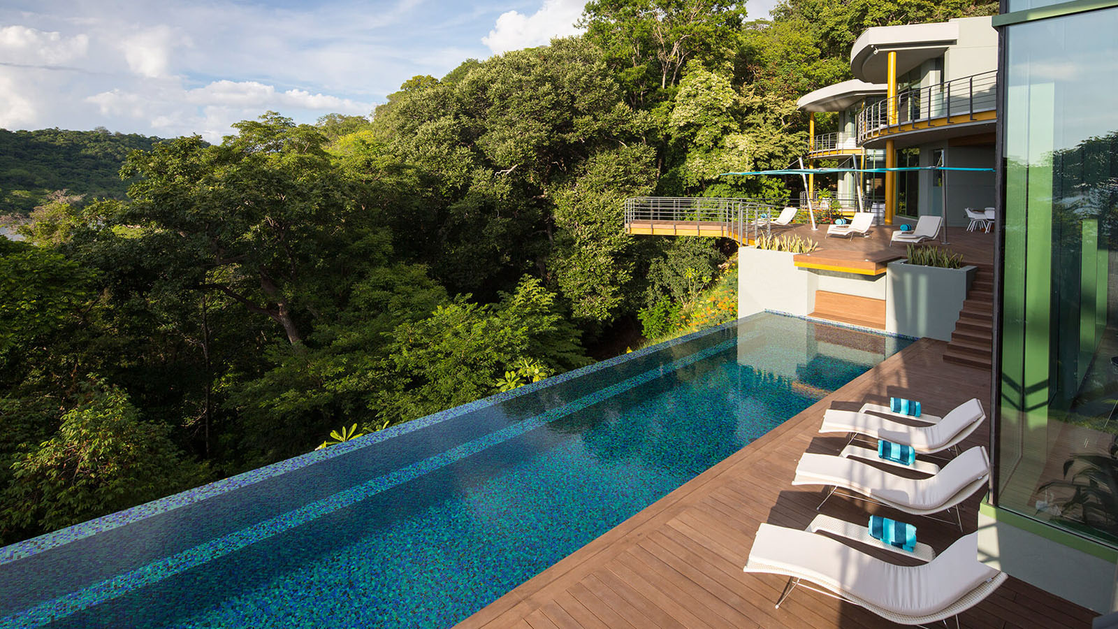 Tropical modern luxury home in the jungle idesignarch for Luxury home architects