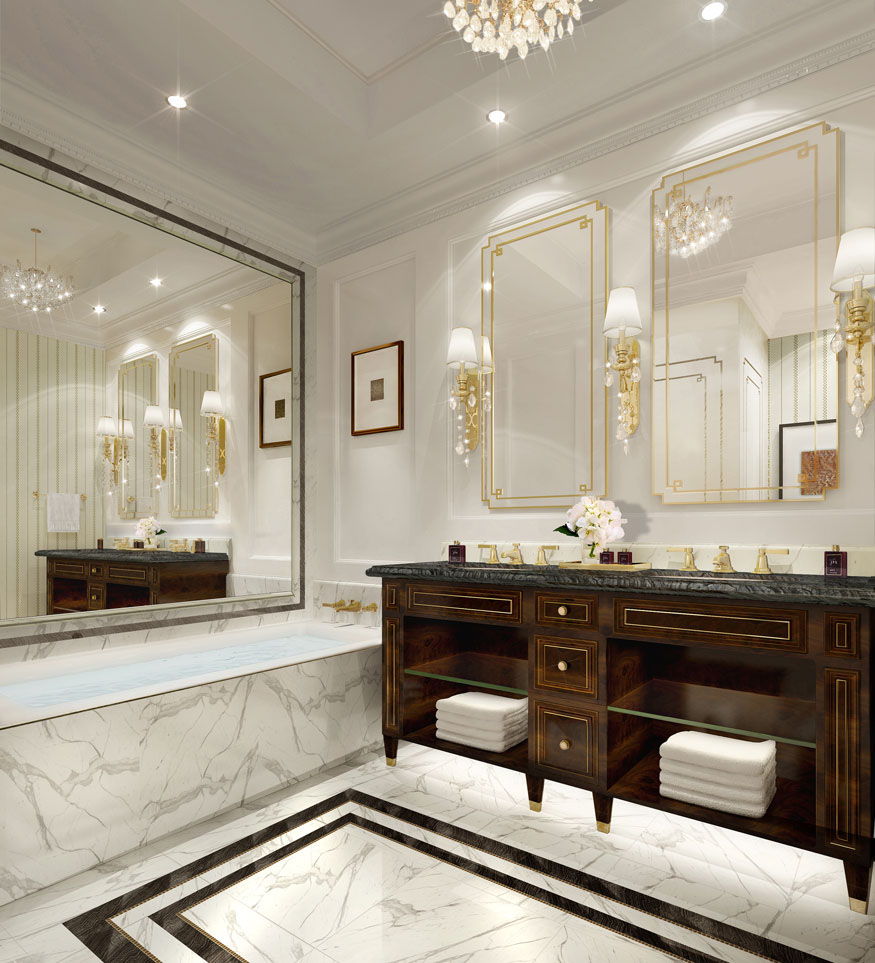 Trump Hotel Suite Marble Bathroom
