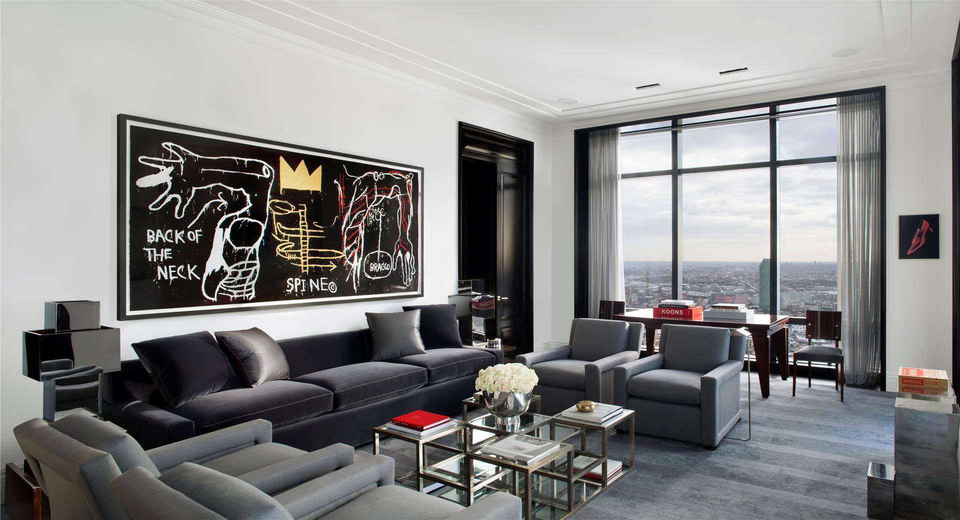 Trump world tower modern penthouse idesignarch for Modern drawing room interior design
