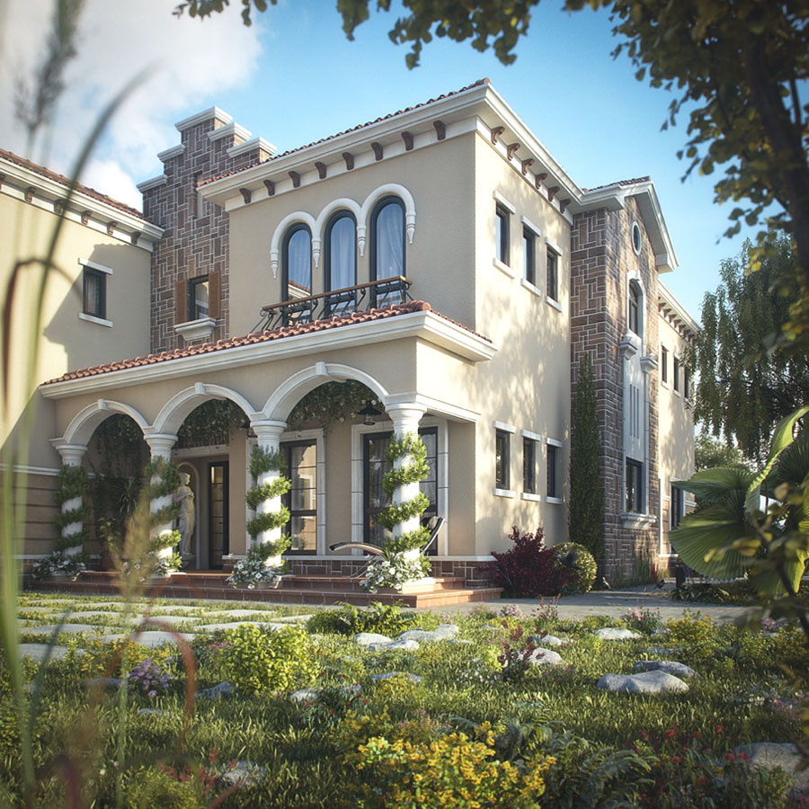 Tuscan inspired villa in dubai idesignarch interior for Tuscany model homes