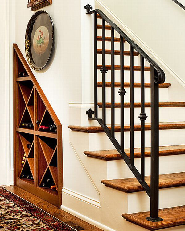 Under Stairs Wine Rack