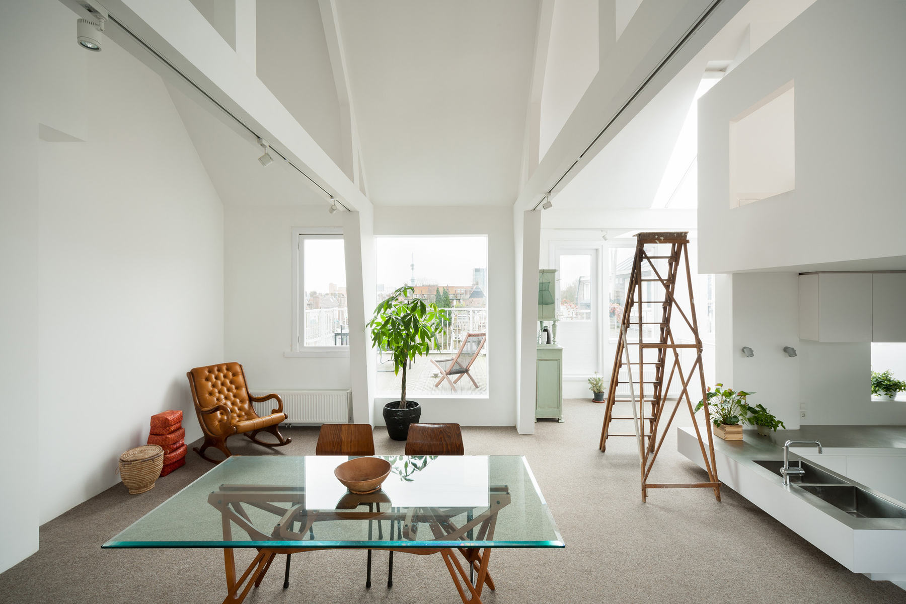 Unique modern attic duplex apartment in amsterdam with Interior design shops amsterdam
