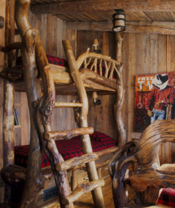 Rustic Cabin-Style Bunk Beds