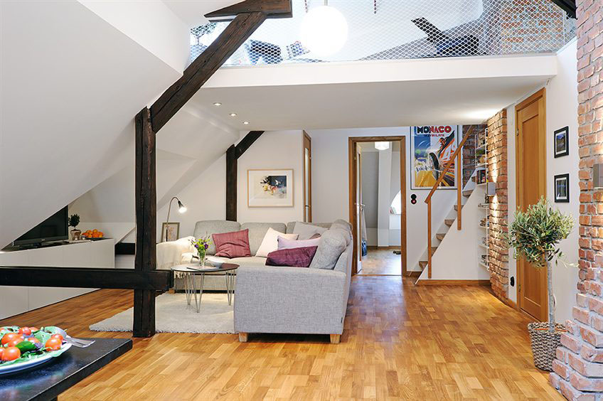 Unique loft apartment in sweden idesignarch interior Small loft apartment design