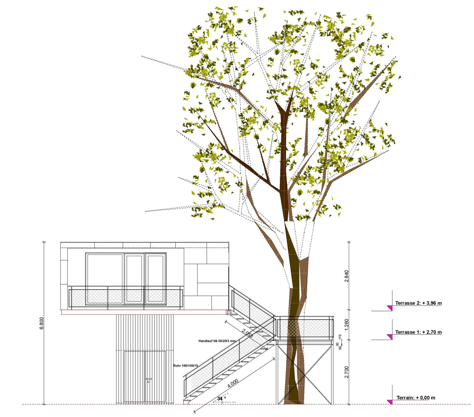 tiny treehouse urban oasis in berlin idesignarch interior design architecture interior. Black Bedroom Furniture Sets. Home Design Ideas