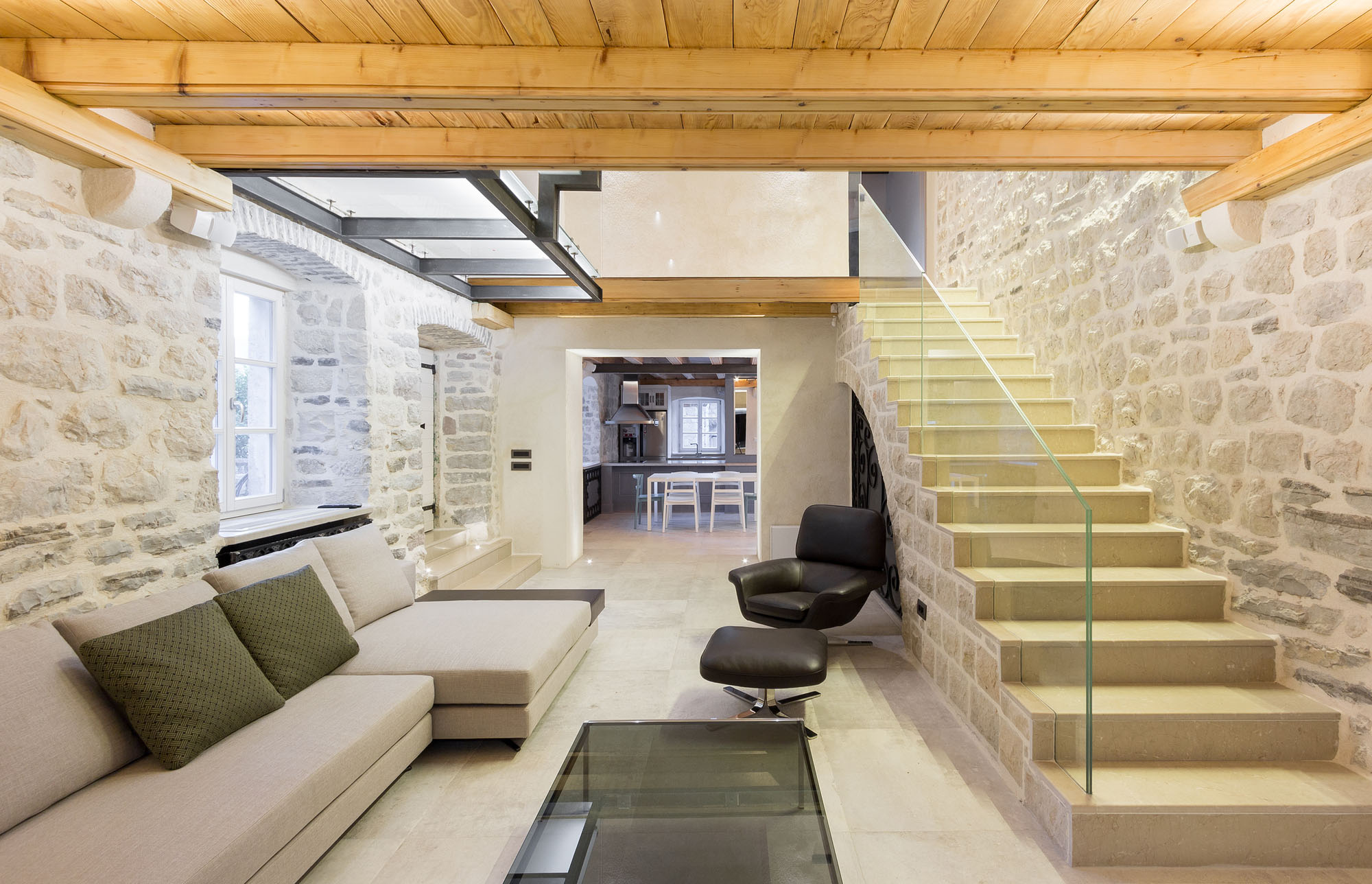 Modern Renovation Of A 19th Century Old Stone House In