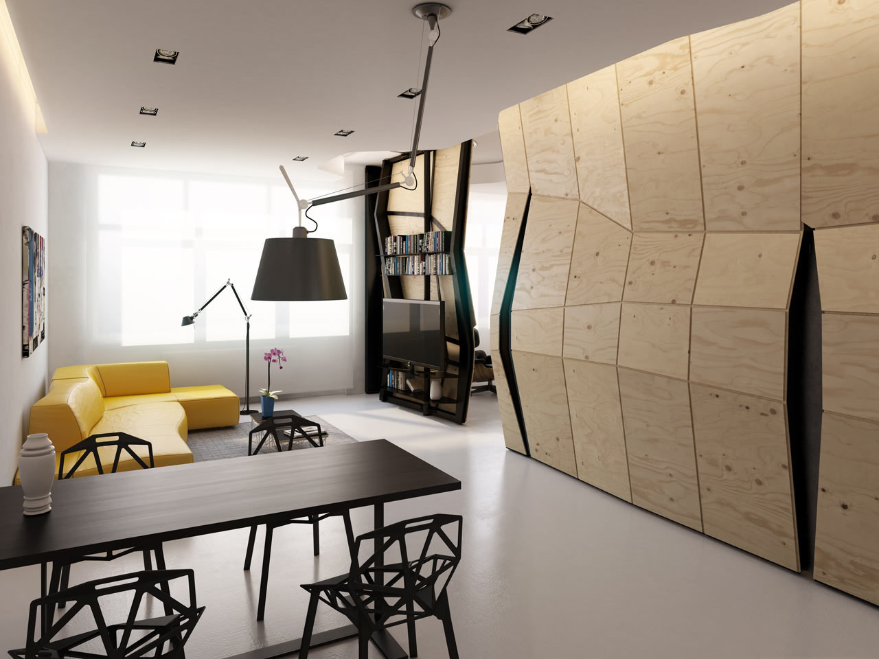 Smart Apartment with Movable Wall Structure