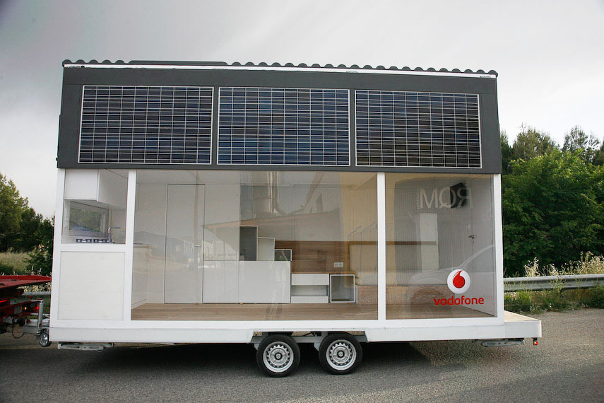 modern mobile home design. Modern Glass Tiny Home on Wheels Solar Powered Vodafone Mobile House  iDesignArch Interior