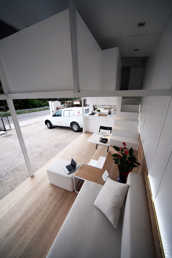 Modern Tiny House with Staircase to Loft
