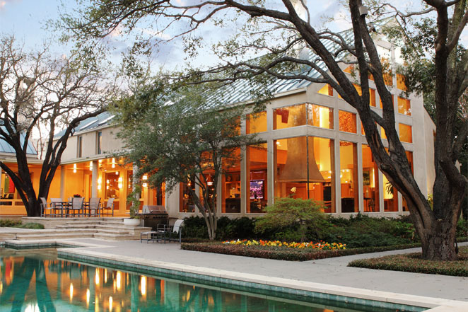 Texas modernism with a contemporary feel backing
