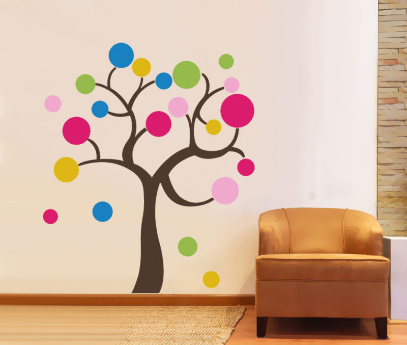 How To Make Wall Decor Stickers : Decorate your living room with wall decals idesignarch