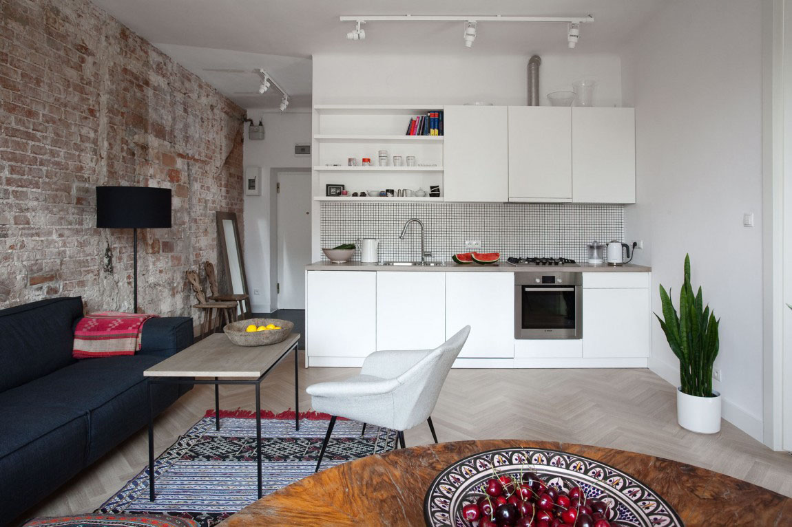 Small apartment in warsaw with tasteful simple decor - Decoracion apartamentos pequenos ...