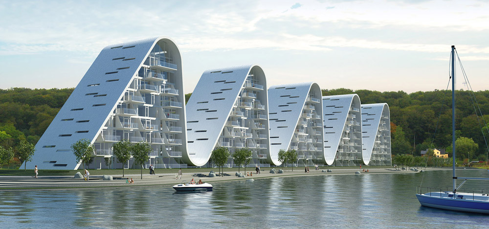 apartment building design. Unique Apartment Complex In Vejle Building Design