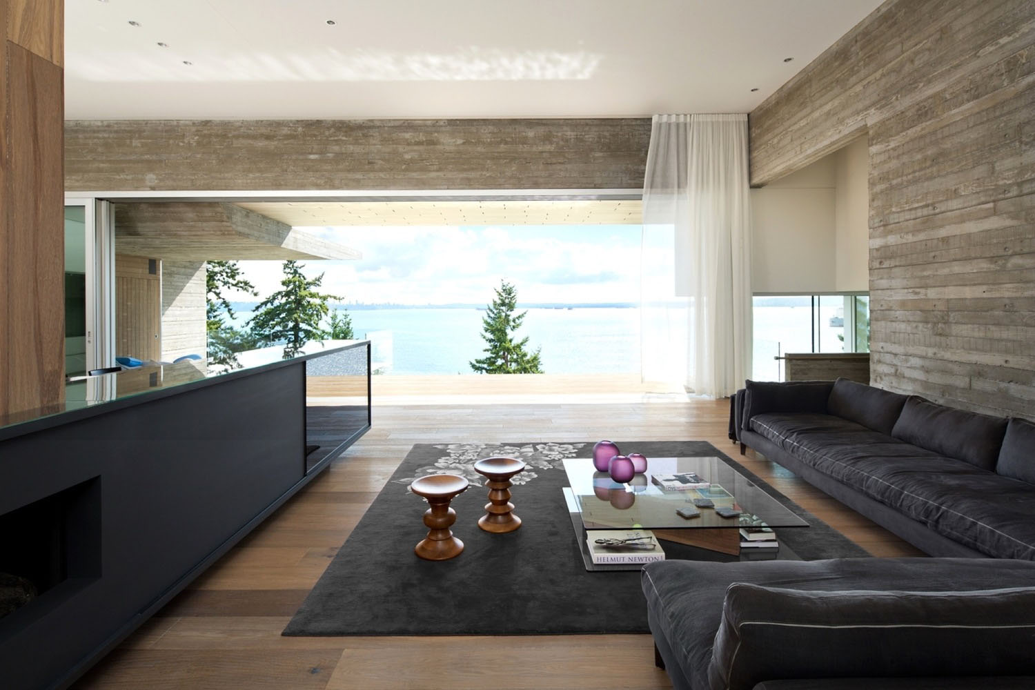 Minimalist oceanview home in israel idesignarch interior design - West Vancouver Ocean View Sunset House Mcleod Bovell_4