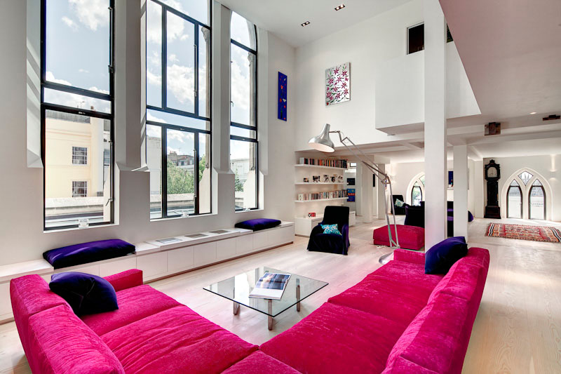 Westbourne grove church transformed into stunning modern for Pretty houses inside
