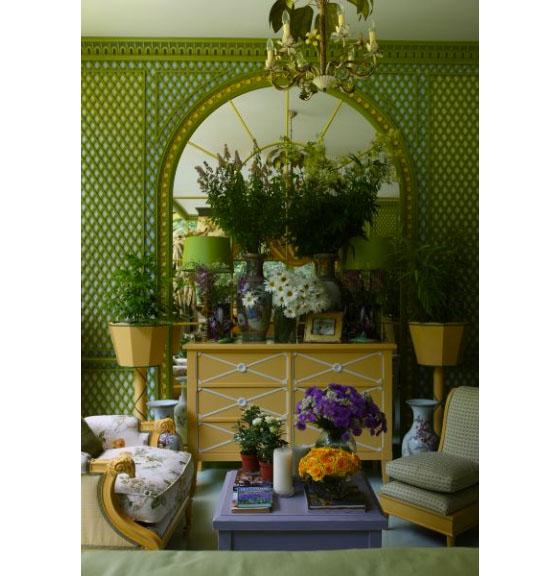 Elegant Winter Garden With Rich Interior Decor