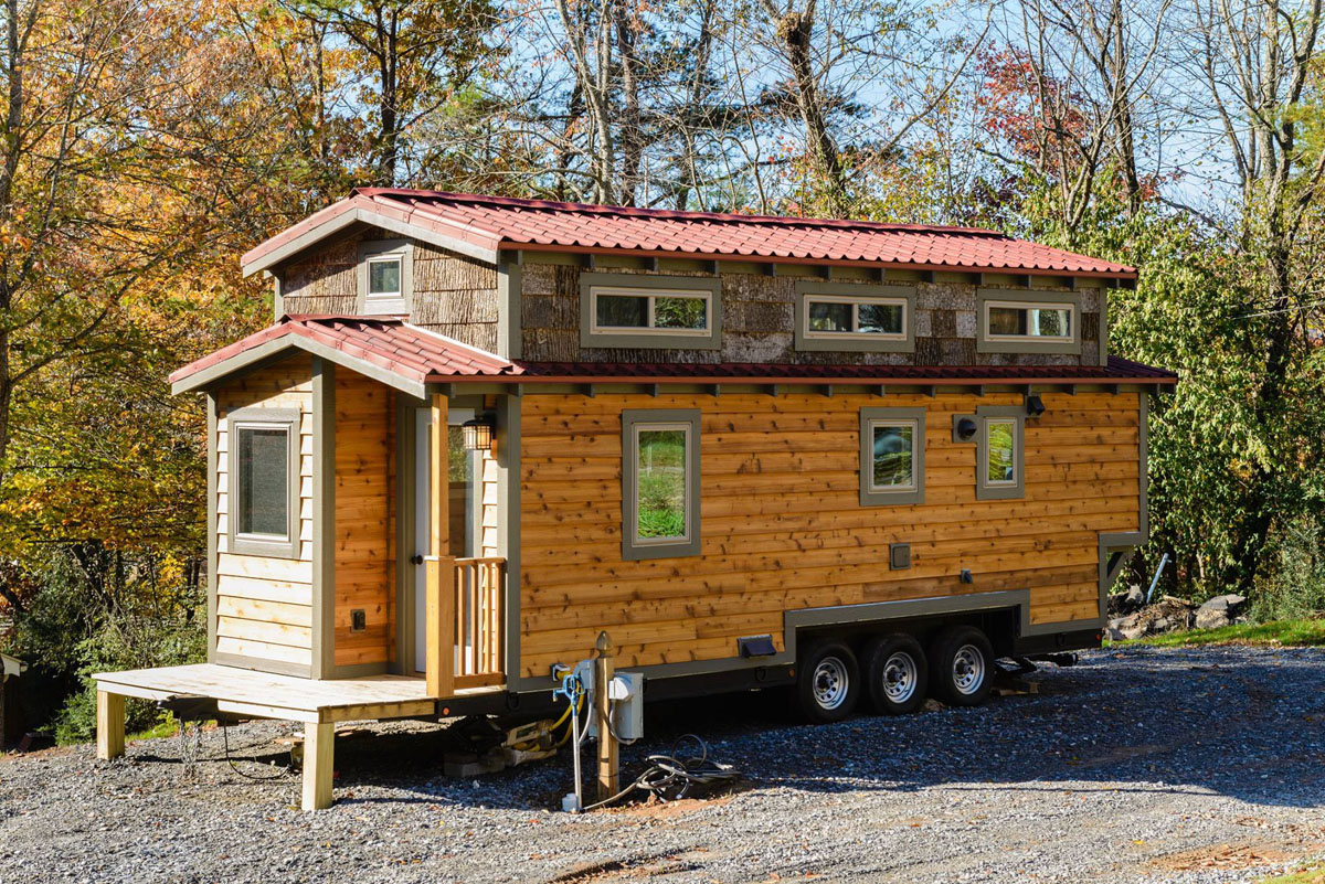 Outstanding Craftsman Style Tiny Home Featuring Cedar Siding And Reclaimed Largest Home Design Picture Inspirations Pitcheantrous