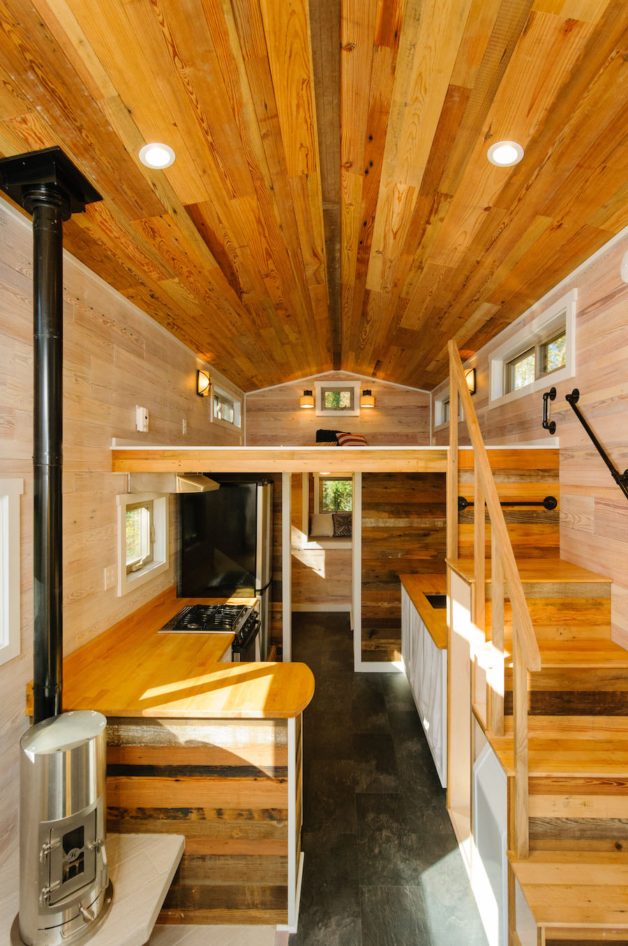 This Custom Tiny Home On Wheels Features Cedar And Poplar On The