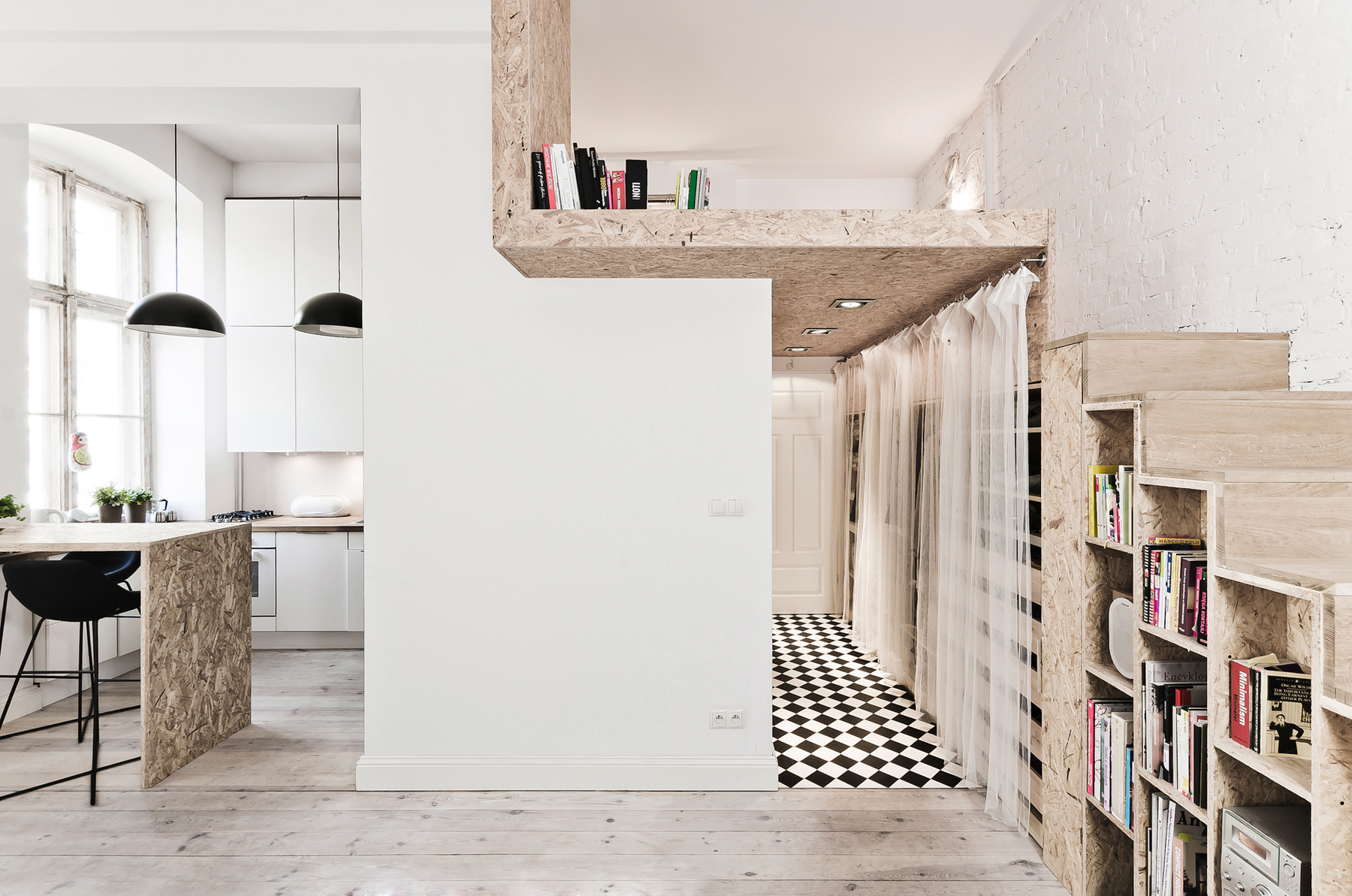 312 Square Foot Studio Loft Apartment In Poland