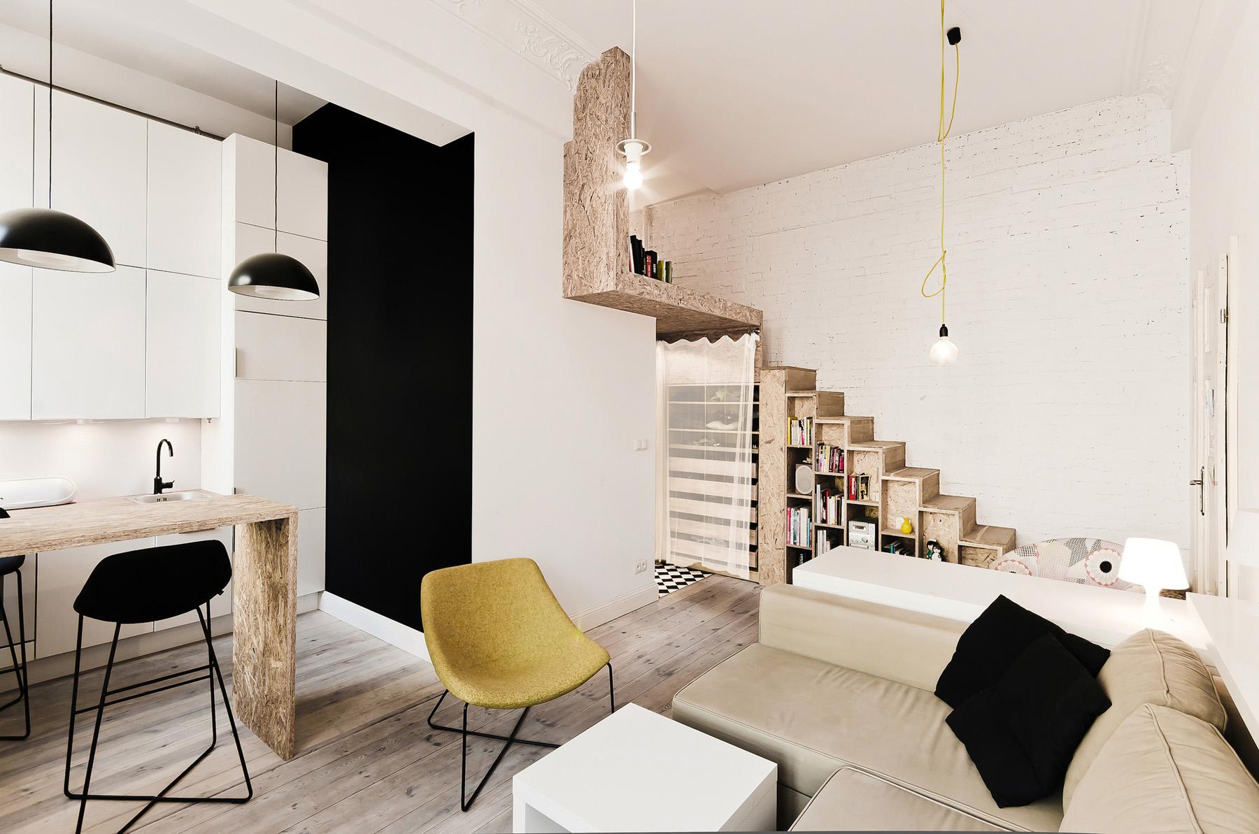 312 Square Foot Studio Loft Apartment In Poland | iDesignArch ...