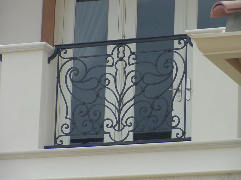 Wrought iron balconies with architectural appeal for French balcony