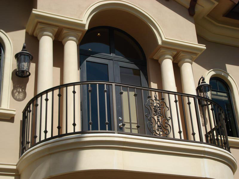 Wrought iron balconies with architectural appeal for Balcony models